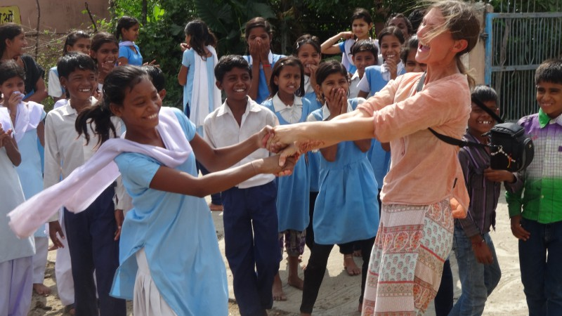 interaction and dancing with Bori village school near bhopal