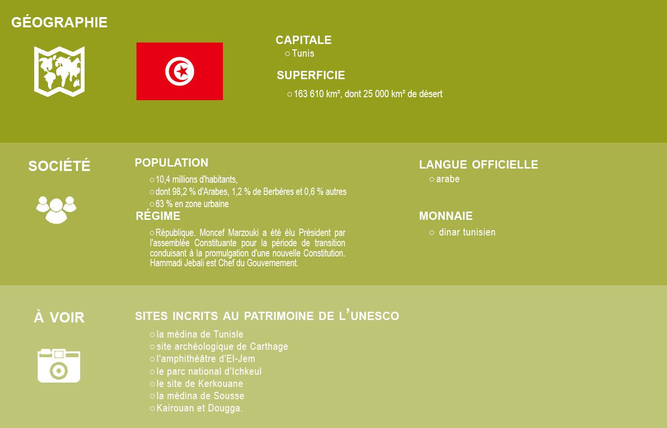 Infographie Tunisie