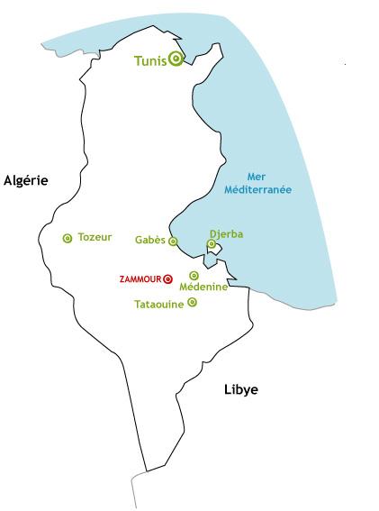Carte Tunisie Zammour