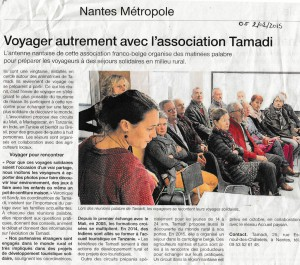 Article Ouest France 2016