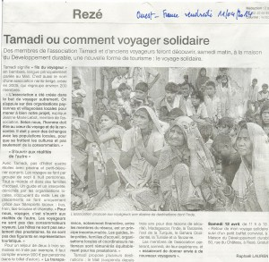 Article Tamadi Ouest France 11042014